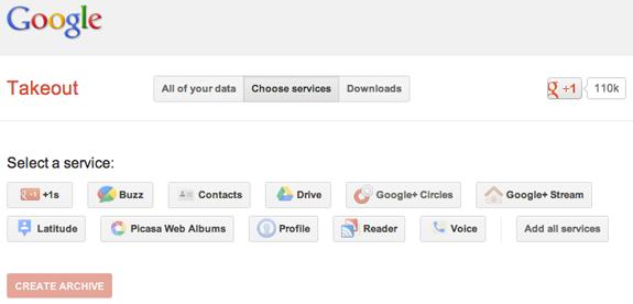 Ovo je popis informacije koje je Google ponudio meni, vaš može biti veći ili manji, ovisno o tome što ste koristili.