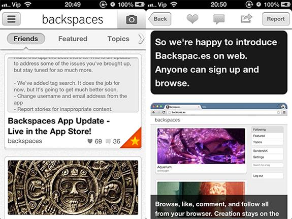 Alternative za Instagram - Backspaces
