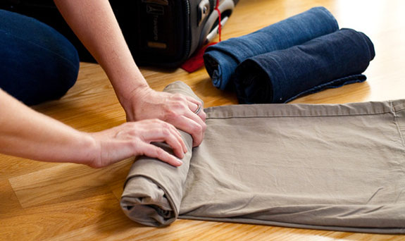 Rolling is the best packing tip I've ever heard of! Image source: NY Times.
