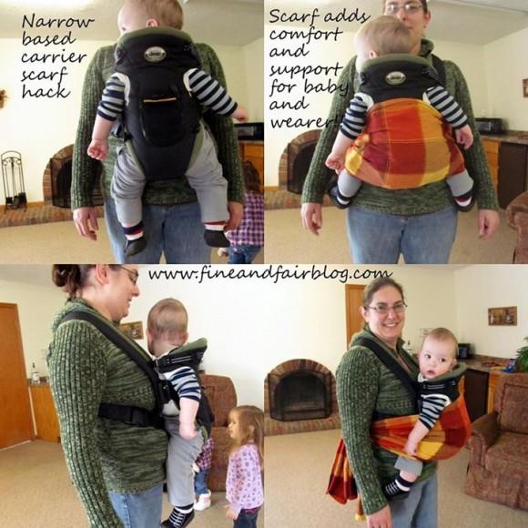 Ne morate kupovati novu nosiljku da biste postigli bolji polozaj djetetovih nogu.