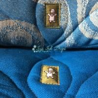 Jacquard tkanje (gore) i broken twill tkanje (dolje)